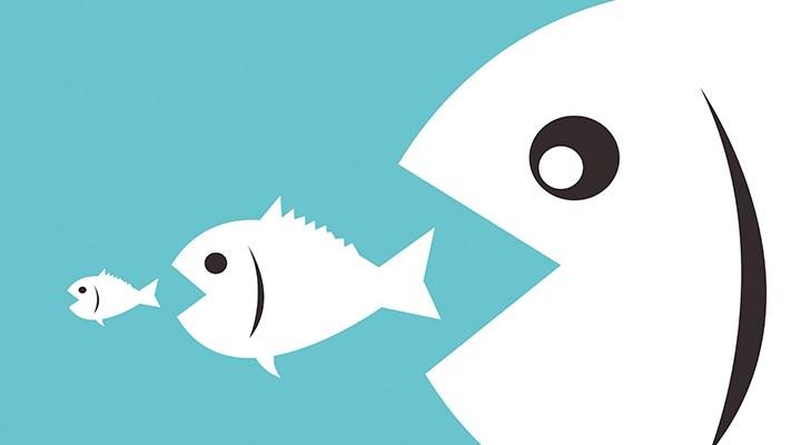 Kriz dinamiği çalışmaya başladı: Büyük balık küçük balığı yutuyor